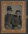 Brothers Private Hiram J. and Private William H. Gripman of Company I, 3rd Minnesota Infantry Regiment, one with his arm around the other LOC 9158003465.jpg