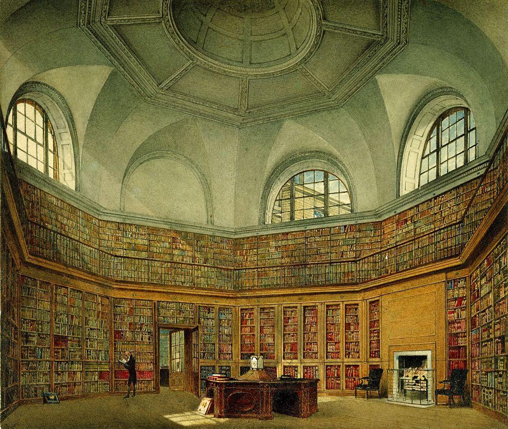 Букингемский дом, библиотека восьмиугольника, Джеймс Стефанофф, 1818 - королевский колл 922147 257078 ORI 0.jpg