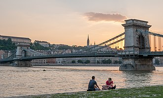 Geography of Europe - The Danube, Europe's second-longest river, in Budapest, Hungary.