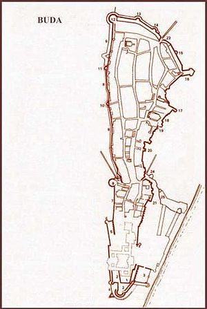 Siege of Buda (1849) - Plan of Buda Castle