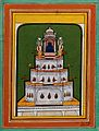 Buddha on top of a tiered pavilion Wellcome V0046357.jpg