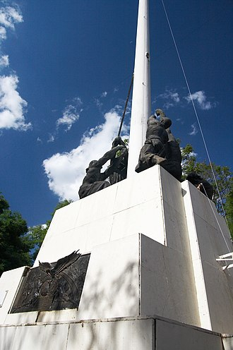 Landmarks in Buenos Aires - Mast in Plaza Colombia