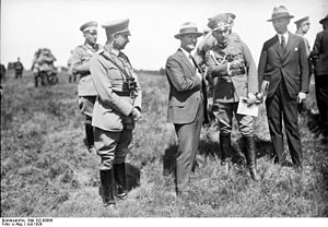 William Durward Connor - Connor (wearing civilian clothes) inspecting a maneuver of the German Reichswehr in July 1929.