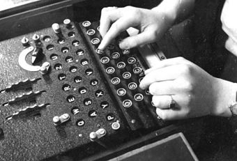 Enigma in use, 1943 - Enigma machine