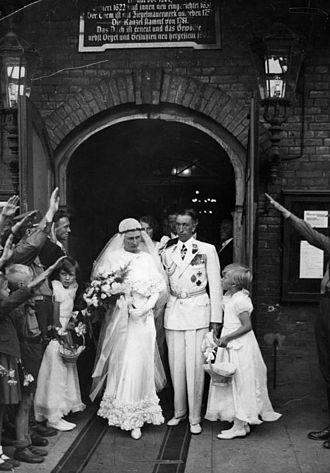 Theo Osterkamp - Wedding of Theodor Osterkamp with Fel Gudrun Pagge in Eppendorf, Hamburg