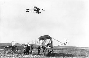 Farman Aviation Works - Farman III  in flight, Berlin 1910