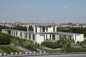 German Chancellery - Chancellery in Berlin, view from the Reichstag