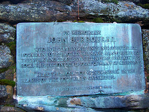 John Burroughs - Plaque quoting Burroughs near the summit of Slide Mountain.