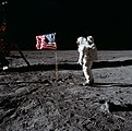 Buzz Aldrin and the U.S. flag on the Moon - GPN-2001-000012.jpg