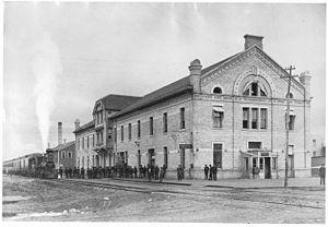 English: C.P.R. station, Winnipeg, Manitoba, C...
