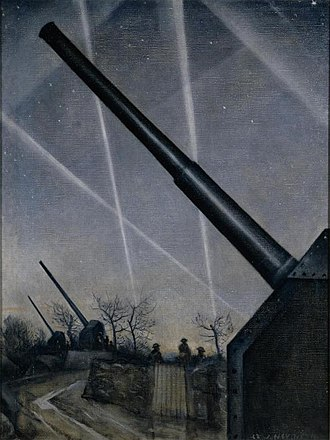 Christopher R. W. Nevinson - Anti-aircraft Defences (1940) (Art.IWM ART LD14)
