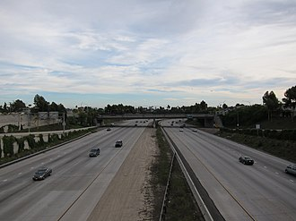Interstate 15 in California - Looking south from the University Avenue overpass