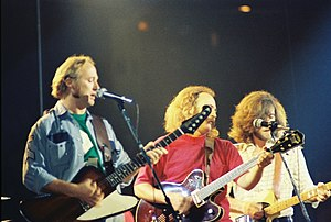 Crosby, Stills, Nash & Young - Stills (left), Crosby and Nash in 1974.