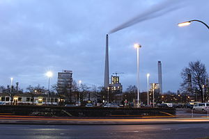 Marl, North Rhine-Westphalia - The south view of Chemiepark Marl