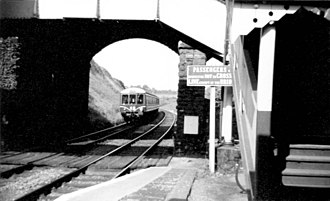 Caerleon railway station - Station in 1959.