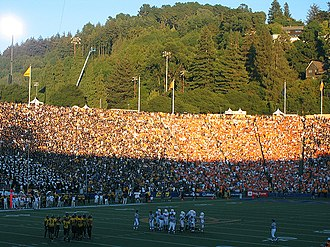 2007 California Golden Bears football team - Sunset at Memorial Stadium mid game