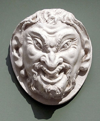 Head of a Faun - Cast of a head in Bargello Museum until 1944, once attributed as Michelangelo's Head of a Faun