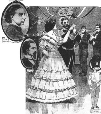 Castro District, San Francisco - A festive dinner party arranged in honor of Admiral Popoff and the naval officers of the Russian Pacific Fleet visiting San Francisco in 1863.