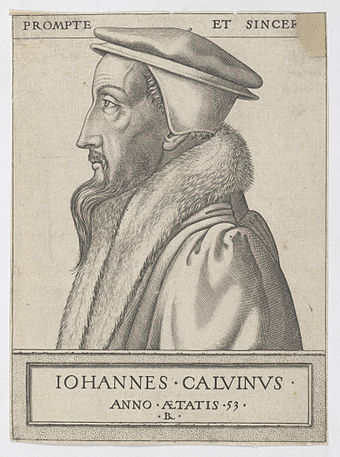 John Calvin at 53 years old in an engraving by Rene Boyvin Calvin 1562.jpg
