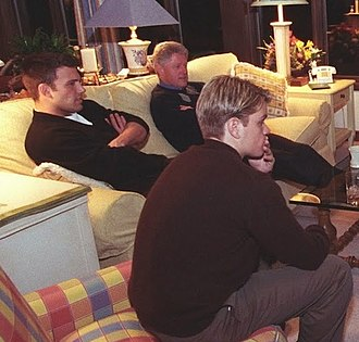 Ben Affleck - Affleck and Matt Damon attend a Camp David screening of Good Will Hunting with President Bill Clinton in early 1998.