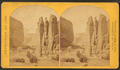 Camp Beauty, Cañon de Chelle; walls 1,200 feet high, width of cañon at this point about one fourth of a mile, by O'Sullivan, Timothy H., 1840-1882 2.png