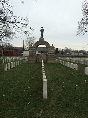 Hilltop, Columbus, Ohio - Camp Chase as it was in 2014 (before being vandalized in 2017), a memorial to 2,260 Confederate soldiers from the Civil War who died in Camp Chase.