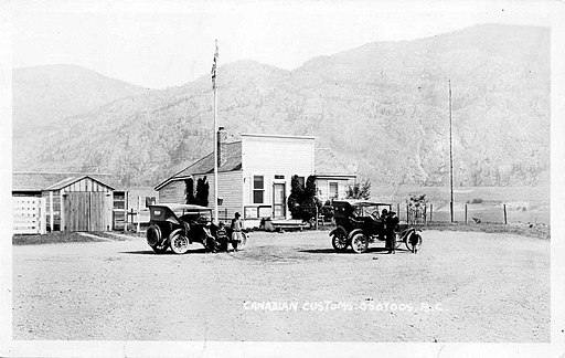 Canada Customs at Osoyoos, 1922