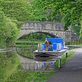 Canal and River Trust vessel Shipley in the Calder and Hebble Navigation, Salterhebble (17275783548).jpg