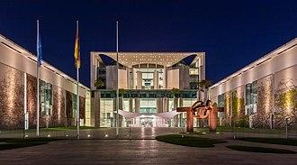 German Chancellery - Image: Cancillería Federal, Berlín, Alemania, 2016 04 21, DD 37 39 HDR