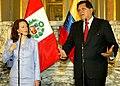 Canciller María Fernanda Espinosa con Presidente Alan García (1183922235).jpg