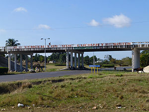Candelaria, Cuba - The A4 motorway exit of Candelaria