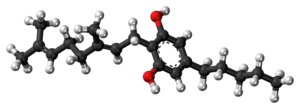 Cannabigerol - Image: Cannabigerol molecule ball