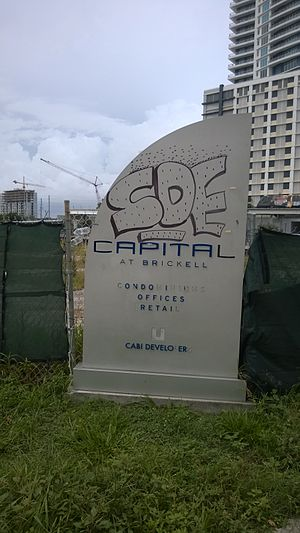 Capital at Brickell - The same sign six years later in July 2014