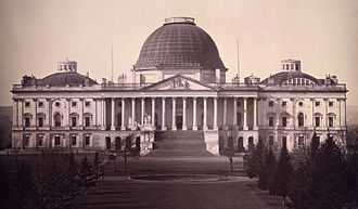 United States Capitol dome - United States Capitol with Charles Bulfinch dome, 1846