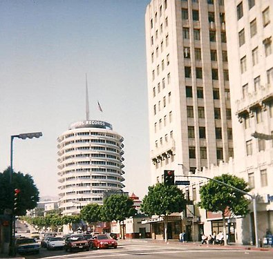 Gallery edit . An aerial view of the Capitol Records Building ceb7a484d594