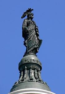 Capitol dome statue Washington DC 2007.jpg