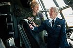Capt. Danielle Parton with Florence Shutsy Reynolds on the flight deck of a C-130 aircraft.jpg