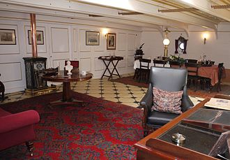 HMS Warrior (1860) - The reproduction captain's day cabin