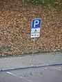 Car parking sign in Dnipro, Ukraine 23OCT19.jpg