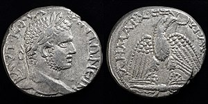 Seleucia Pieria - silver tetradrachm struck in Seleucia by Caracalla 215-217 AD