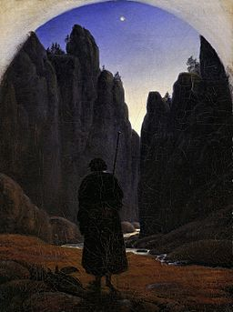 Carl Gustav Carus - Pilger im Felsental - Google Art Project