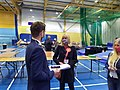 Carolyn Thomas AM being interviewed shortly after winning North Wales Regional 7th May 2021.jpg