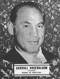Carroll Rosenbloom American football player, owner (1907-1979)