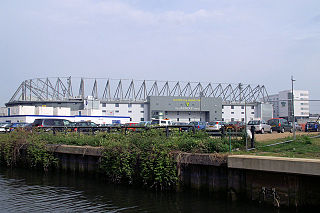 Carrow Road Football stadium in Norwich, England