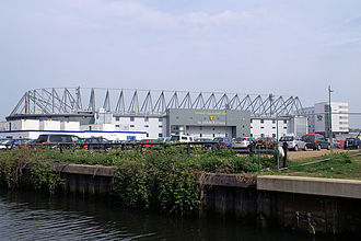 Carrow Road - Carrow Road seen from the River Wensum