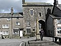 Cartmel Village Cross and Priory Gatehouse - geograph.org.uk - 153327.jpg