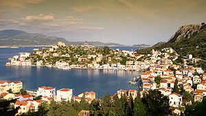 Water supply and sanitation in Greece - Kastelorizo, an island with 430 inhabitants off the Turkish coast, is supplied with drinking water from tanker boats