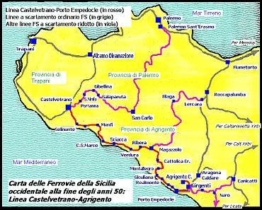 Linee ferroviarie in Provincia di Trapani