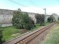 Castle of Eger, east wall from Bástya Street in Eger, 2016 Hungary.jpg