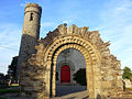 Castledermot Round Tower with Original Church Door..jpg